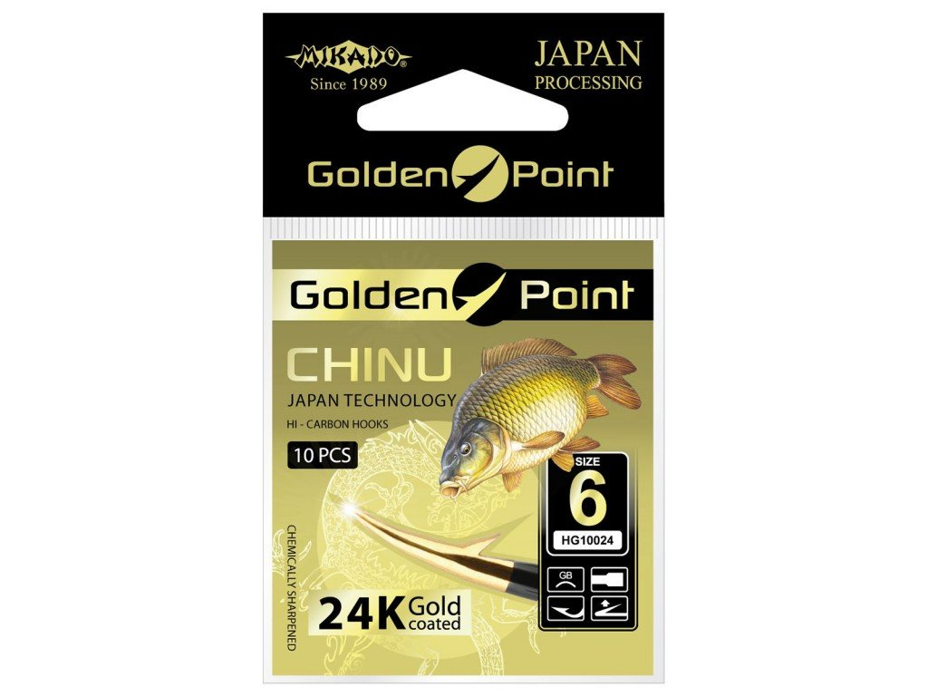 Háčky GOLDEN POINT - CHINU 6 GB Lopatka - 10 ks