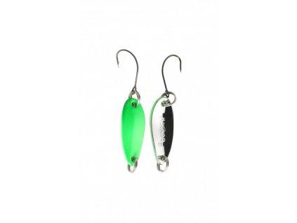 Třpytka - Mini - 2.4 cm - 1.5 g / Zelená Fluo - Stříbrná  1 ks
