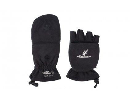 Rybářské rukavice fleecové POLAR černé vel. M
