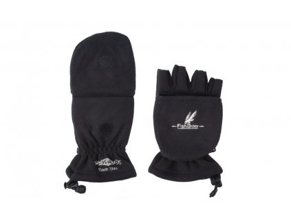Rybářské rukavice fleecové POLAR černé vel. XL