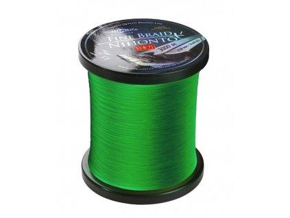 Pletená šňůra - NIHONTO FINE BRAID  010 3000M  Zelená Nosnost : 7.70kg