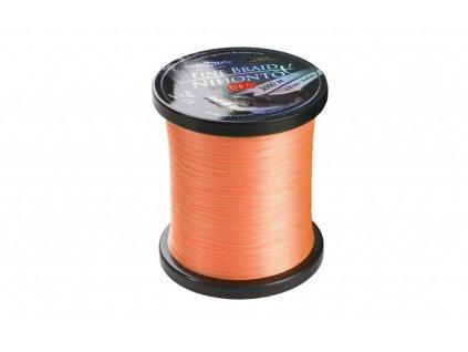Pletená šňůra - NIHONTO FINE BRAID  045 Oranžová 3000M  Nosnost : 37.40kg