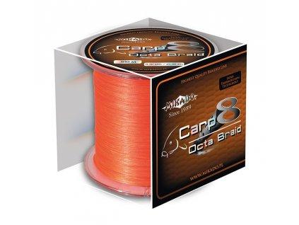 Pletená šňůra - CARP OCTA BRAID 020 Oranžová 600M Nosnost: 18.10 kg
