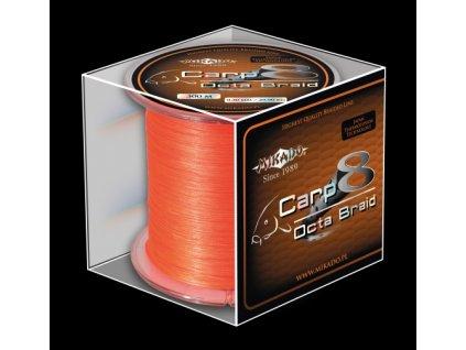 Pletená šňůra - CARP OCTA BRAID 020 Oranžová 1200M Nosnost: 18.10 kg