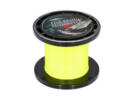 Pletená šňůra - NIHONTO FINE BRAID 010 900M Zelená Nosnost: 7.70 kg