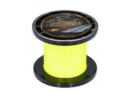 Pletená šňůra - NIHONTO OCTA BRAID 045 Žlutá 900M Nosnost : 44.50kg