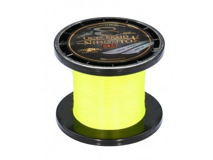 Pletená šňůra - NIHONTO OCTA BRAID 050 Žlutá 900M Nosnost : 53.30kg