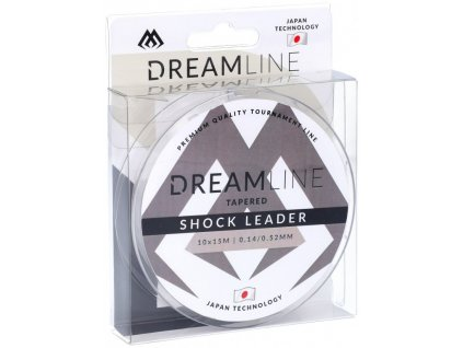 Šokový vlasec -TAPERED SHOCK LEADER DREAMLINE 0.14/0.52mm/10x15m - 1 cívka