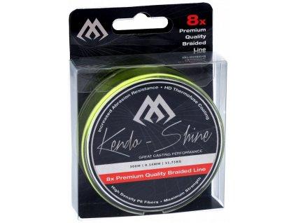Pletená šňůra - KENDO SHINE YELLOW 0.23mm\21.75kg\300m - 1 cívka