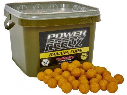 Boilies Power FEEDZ Banana Corn 20mm 1,8kg - STARBAITS