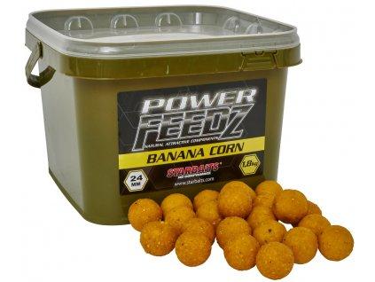 Boilies Power FEEDZ Banana Corn 24mm 1,8kg - STARBAITS