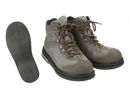 Brodící boty s filcovou podrážkou - vel. 43