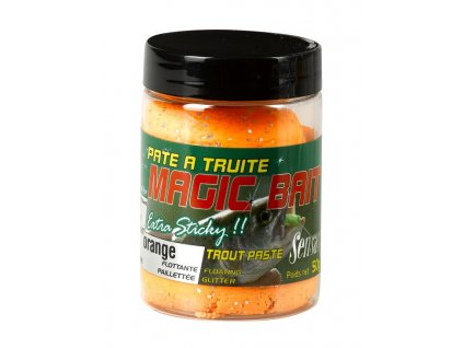 Těsto na pstruhy MAGIC BAIT oranžová 50g Těsto na pstruhy MAGIC BAIT oranžová 50g