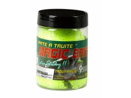 Těsto na pstruhy MAGIC BAIT žluto-zelená 50g Těsto na pstruhy MAGIC BAIT žluto-zelená 50g