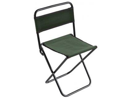 Stolička s opěrkou zad 004 (malá) / GREEN Ø 16 mm (30 x 38 x 59 cm)