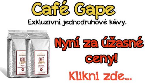 Café Gape - výprodej jednodruhových káv