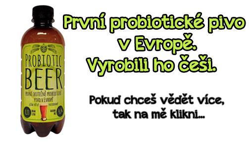 České probiotické pivo, první v Evropě!