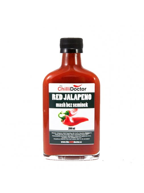 Red Jalapeno mash  Chilli mash bez semínek 200 ml