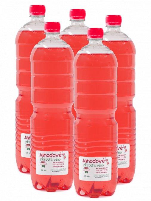 Jahodový PET balíček  5 Jahodových vín V 1,5L PET lahvích