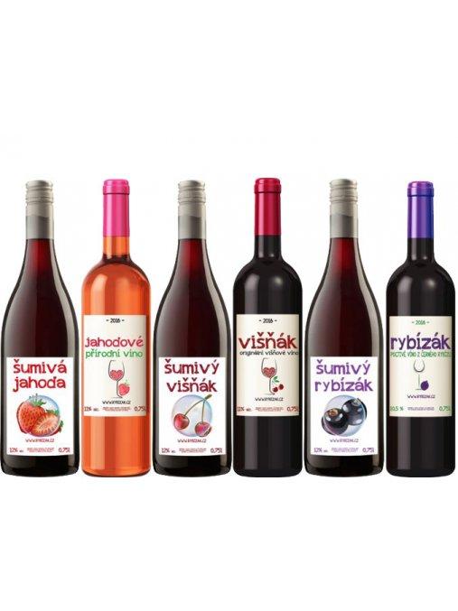 Balíček nejprodávanějších vín  3 normální a 3 šumivá vína