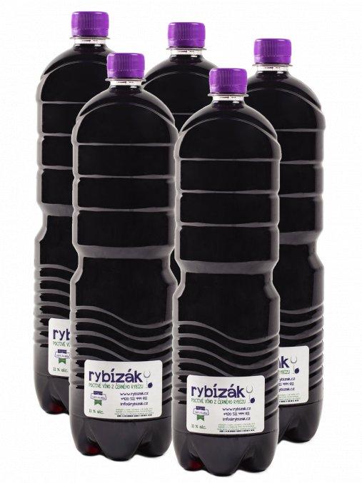 Rybízový PET balíček  5 Rybízáků v 1,5l PET lahvích