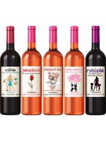 Balíček pro maminky  4 vína a 1 nealko