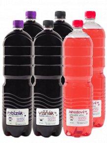 Namixovaný PET balíček  6 ovocných vín v PET lahvích