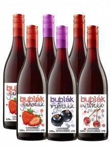 Šumivý balíček velký  6 šumivých ovocných vín