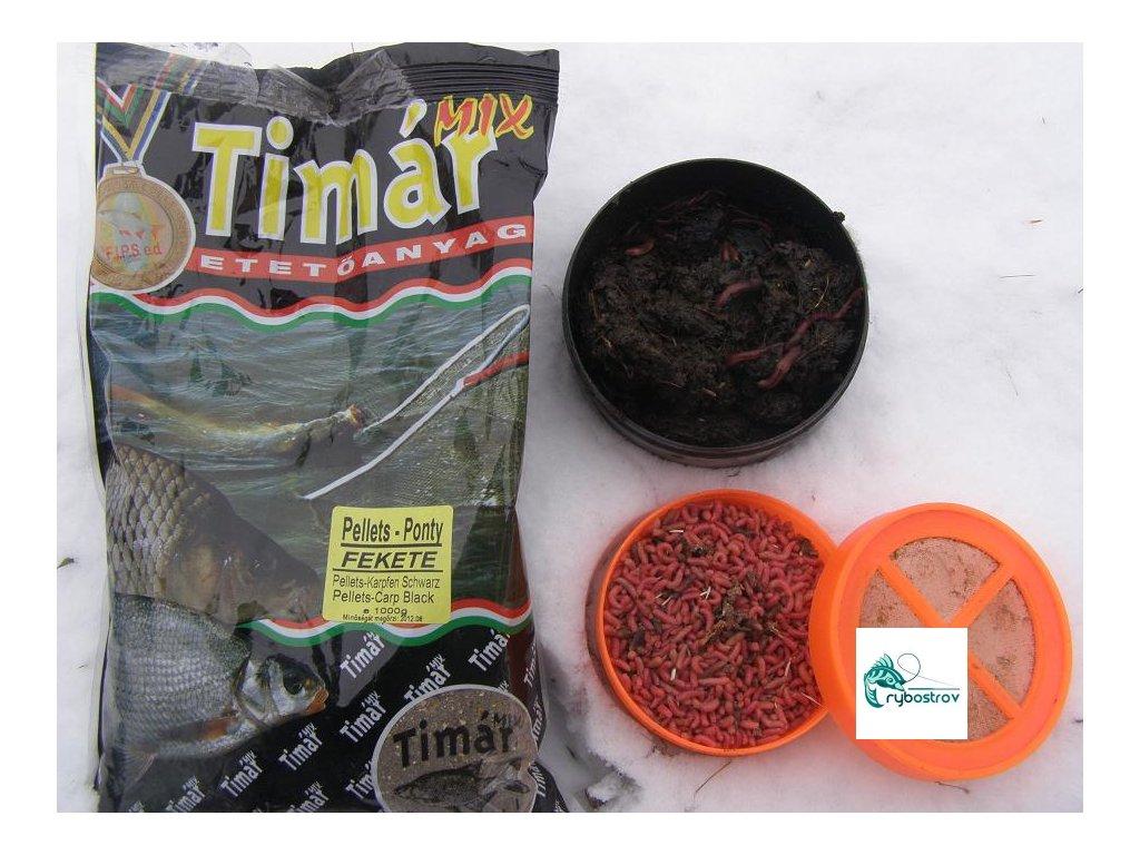 Timár mix Pellets Kapor Čierny 1kg