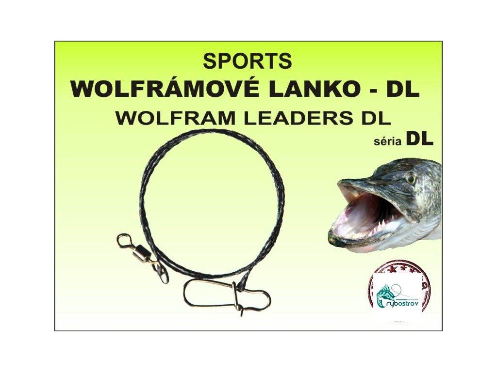 Wolframové lanko Sports DL 20-25-35-45cm 2,5-5-15-25-35kg