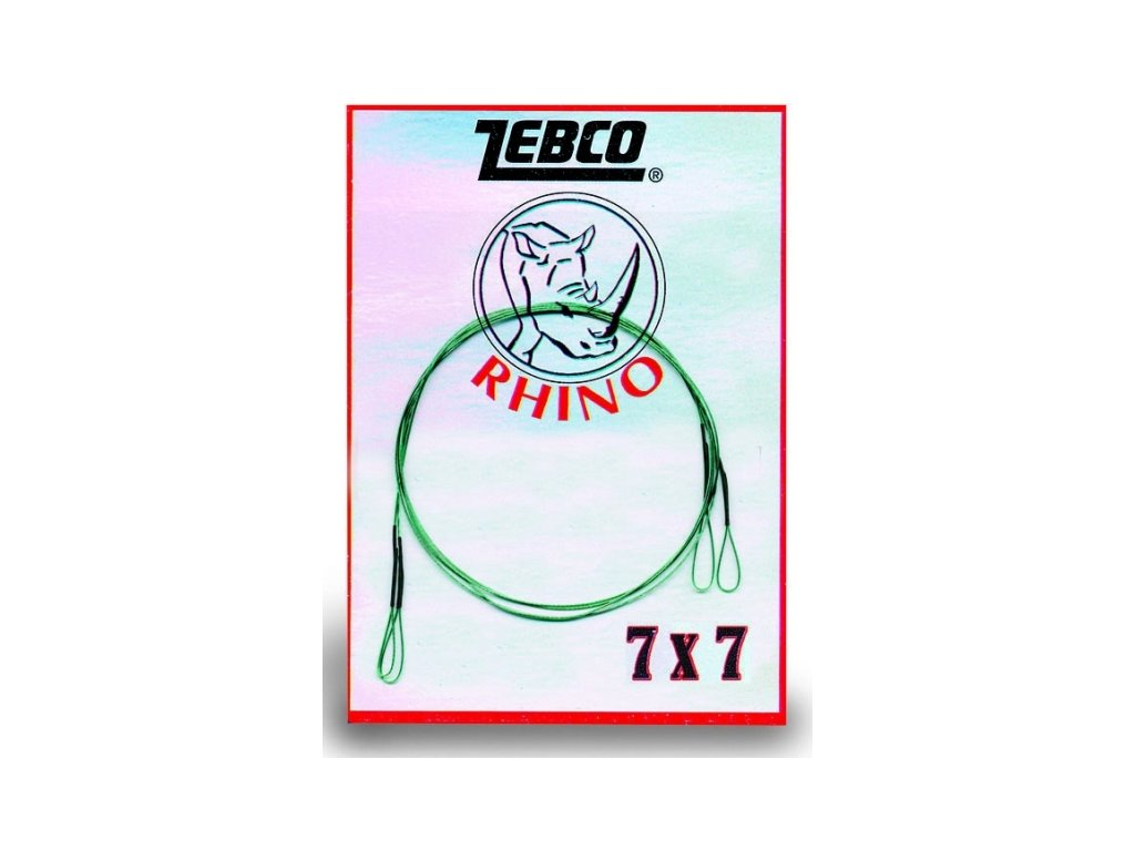 Zebco oceľové lanko 7x7 0,34mm/5kg/50cm, 0,38mm/8kg/50cm, 0,42mm/12kg/50cm, 0,38mm/8kg/70cm a 0,42mm/12kg/70cm