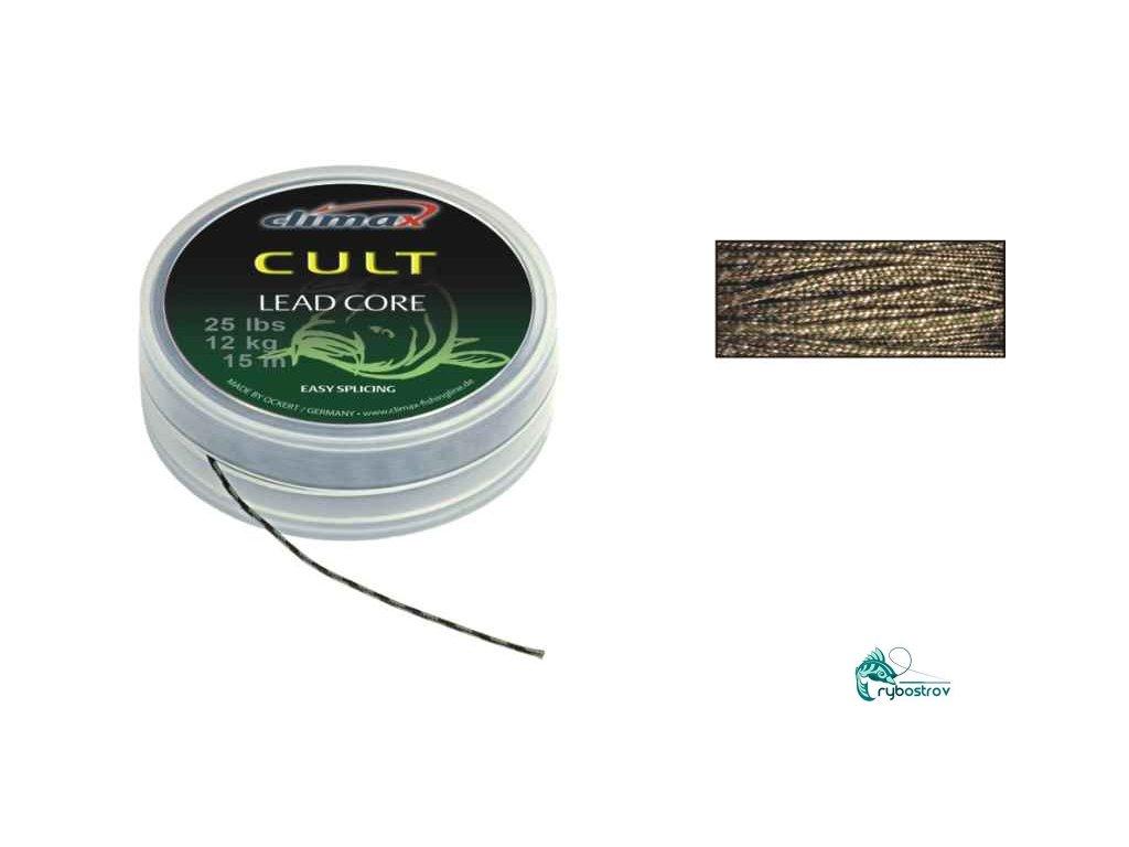 Climax šnúra Cult Leadcore super supple WEED 10m 25Ibs