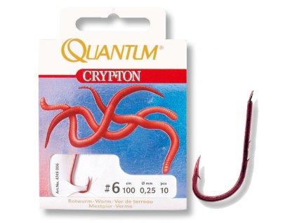 Quantum Crypton Rotwurm veľ.2-0,30mm-0,70m, 4-0,30mm-0,70m, 6-0,25mm-0,70m, 8-0,22mm-0,70m. 10-0,20mm-0,70m