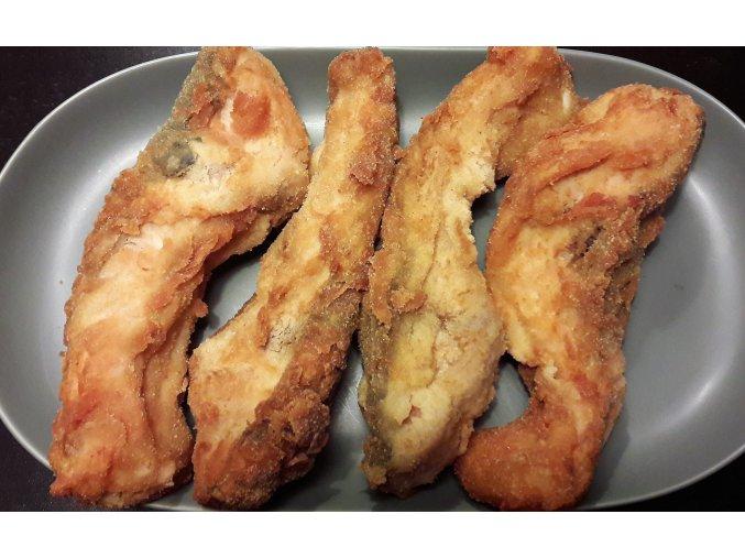smažený kapr porce 80 - 120g