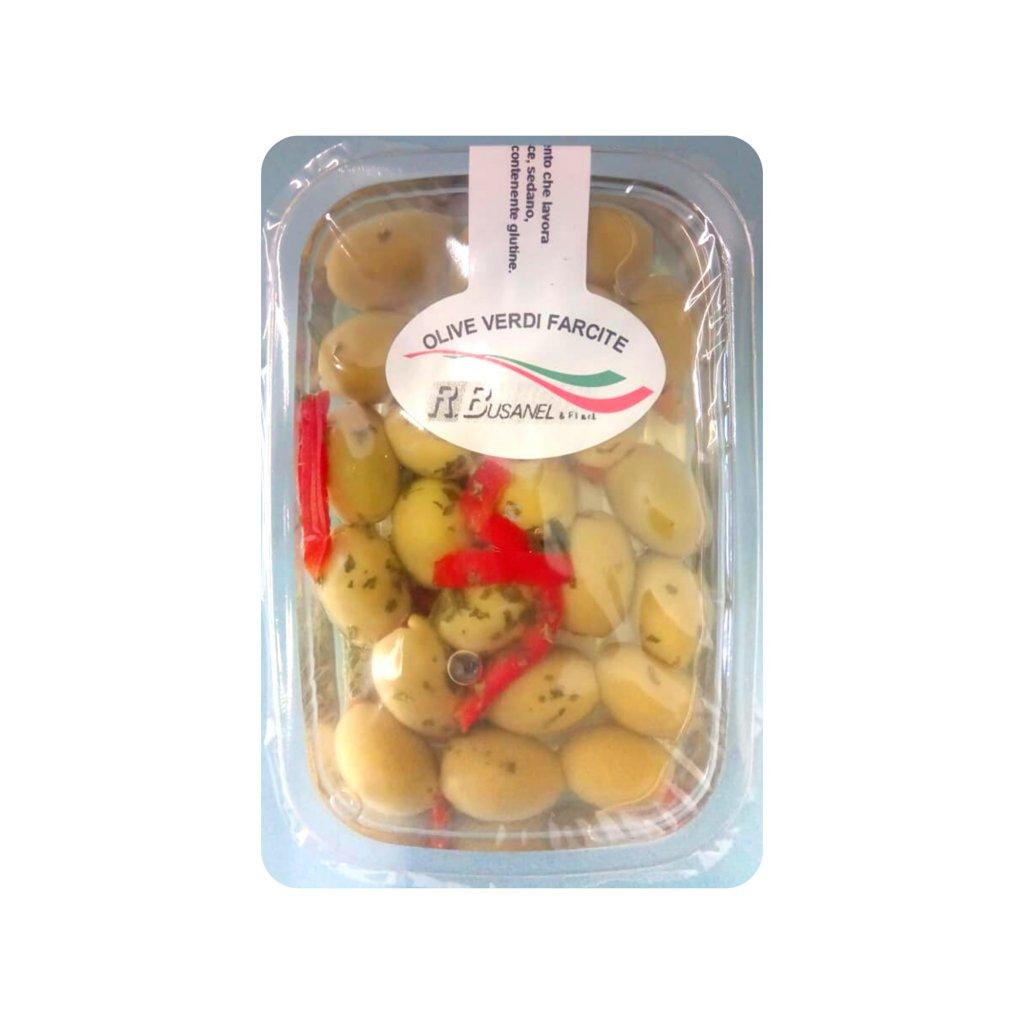 Plnené zelené olivy