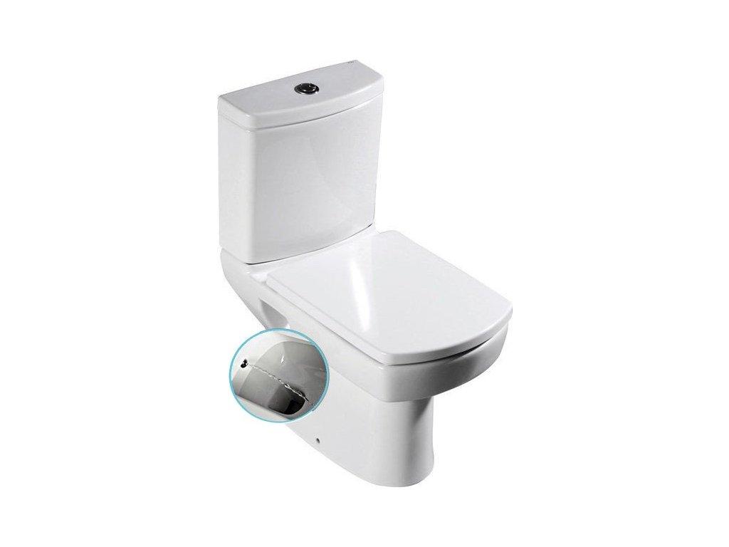 WC s bidetovou sprškou