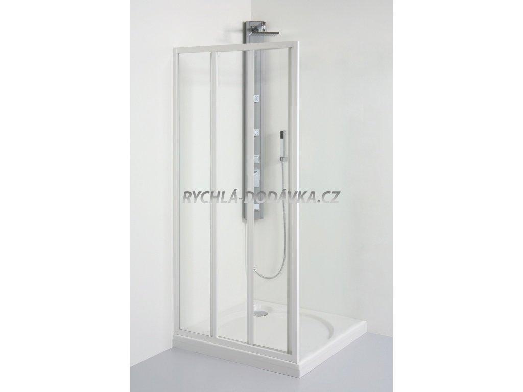 Teiko sprchová zástěna standard SD 2/90 chinchila + water off-sd290chwoff