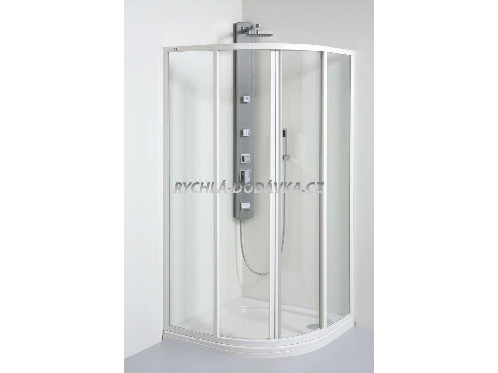 Teiko sprchová zástěna standard SKKH 2/90 v 165 R55 chinchila+ water off-skkh290r55v165chwoff