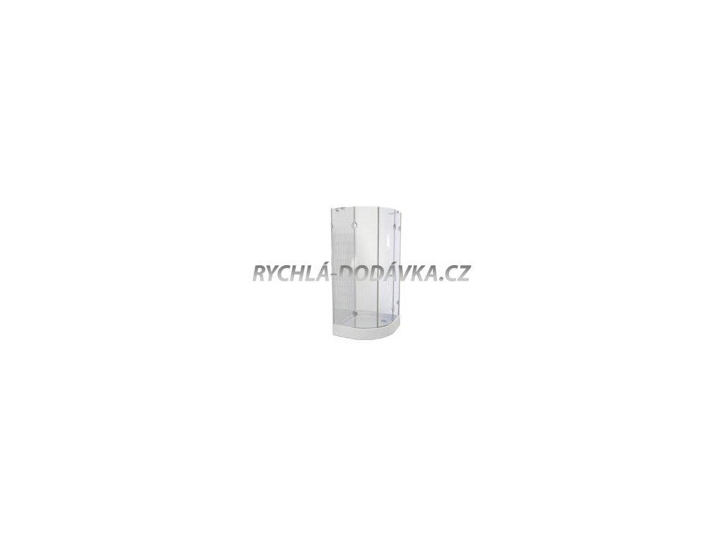 Teiko sprchová zástěna premium PSKKH 2/80 S R50 čiré sklo-pskkh28050