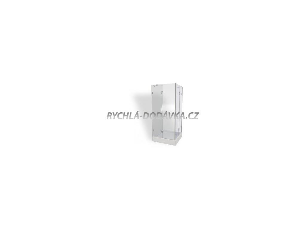 Teiko sprchová zástěna premium PSKRH 2/90 S čiré sklo-pskrh290