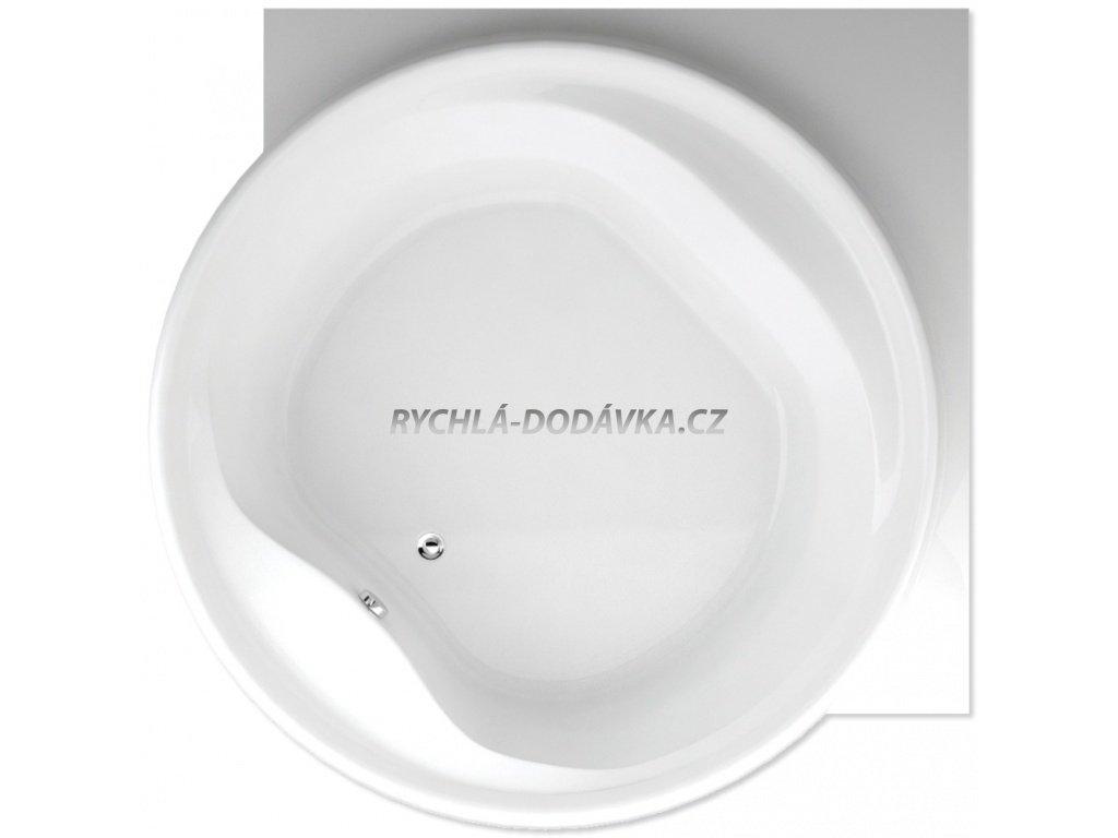TEIKO Vana Borneo - R kruhová 177x177 cm, akrylátová, bílá V111160N04T02001-VVO0101  Nohy zdarma