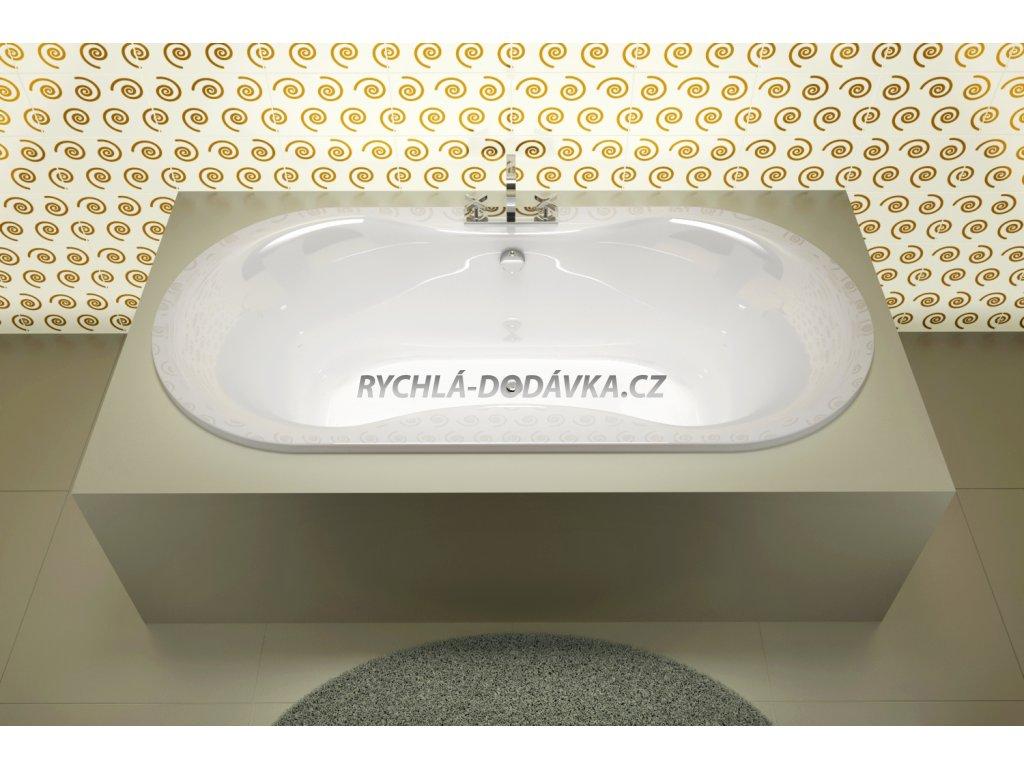Teiko vana Malaga 185x90 cm akrylátová bílá V117185H04T04001  Nohy zdarma