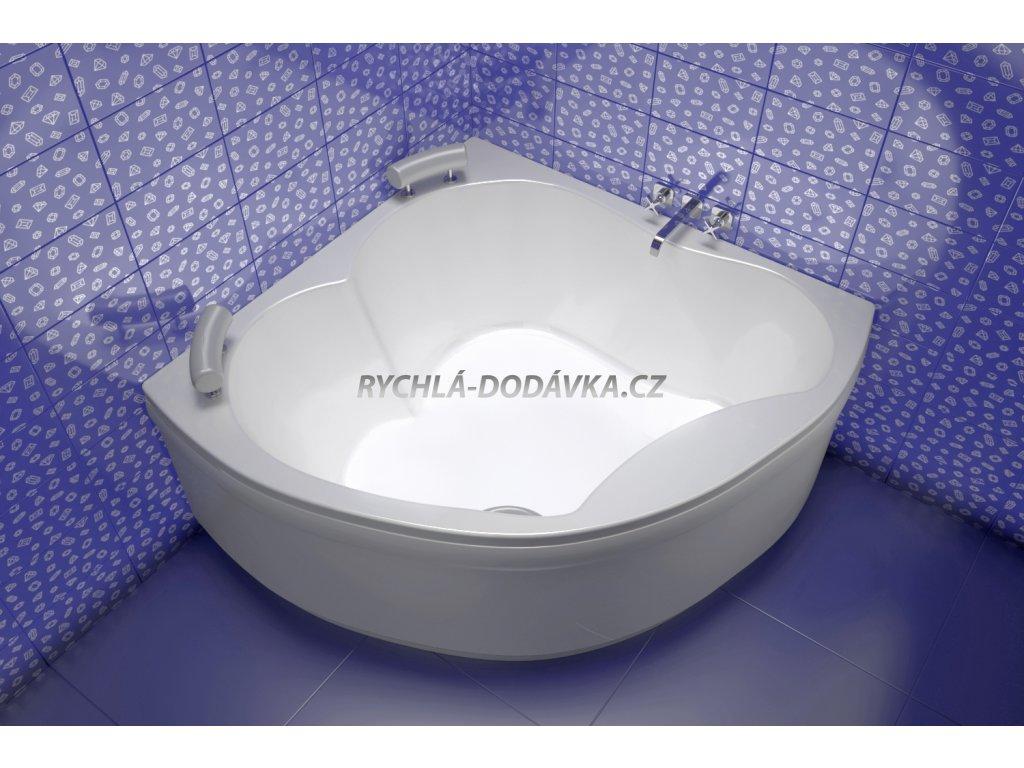 TEIKO Vana Diamant rohová 149x149 cm, akrylátová, bílá V111149N04T02001  Nohy zdarma