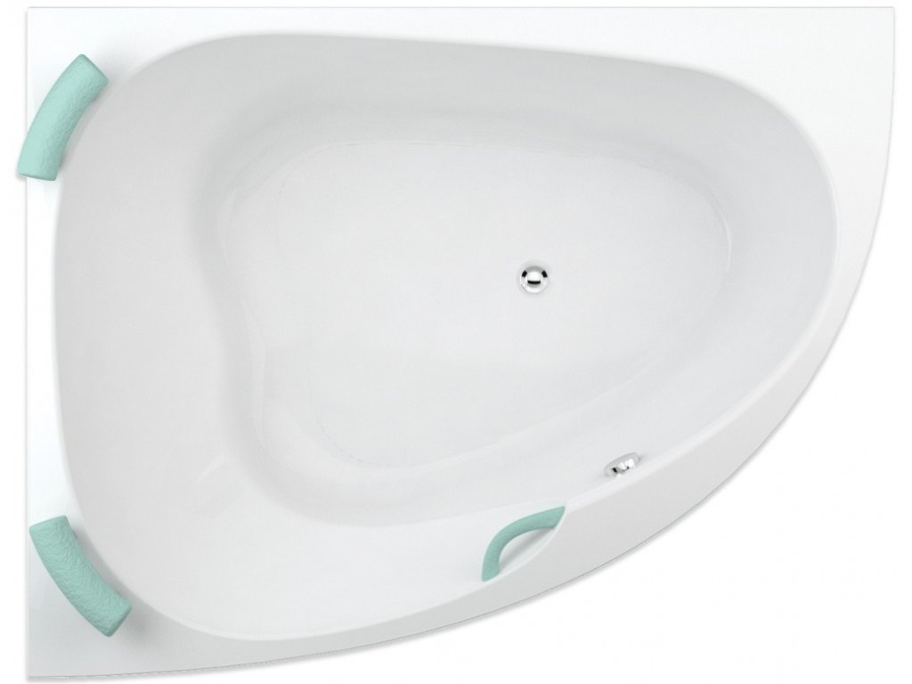 TEIKO Vana Spinell 160 L rohová 160x125 cm, akrylátová, bílá, levá V110160L04T02001  Nohy zdarma