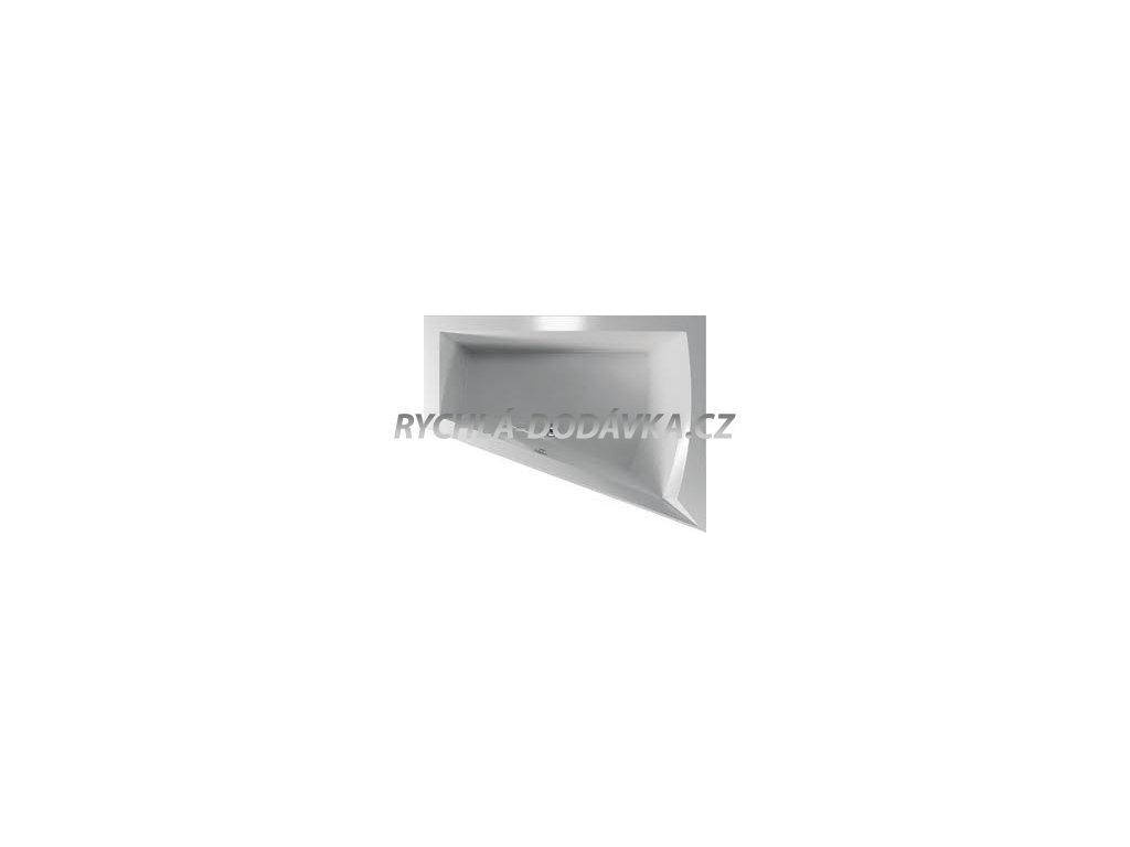 TEIKO Vana Galia P rohová 175 x 135 cm, akrylátová, bílá, pravá V110175R04T01001  Nohy zdarma