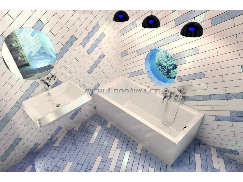 TEIKO Vana Trend 150 obdélníková 150 x 70 cm, akrylátová, bílá V113150N04T02001-trend150  Nohy zdarma