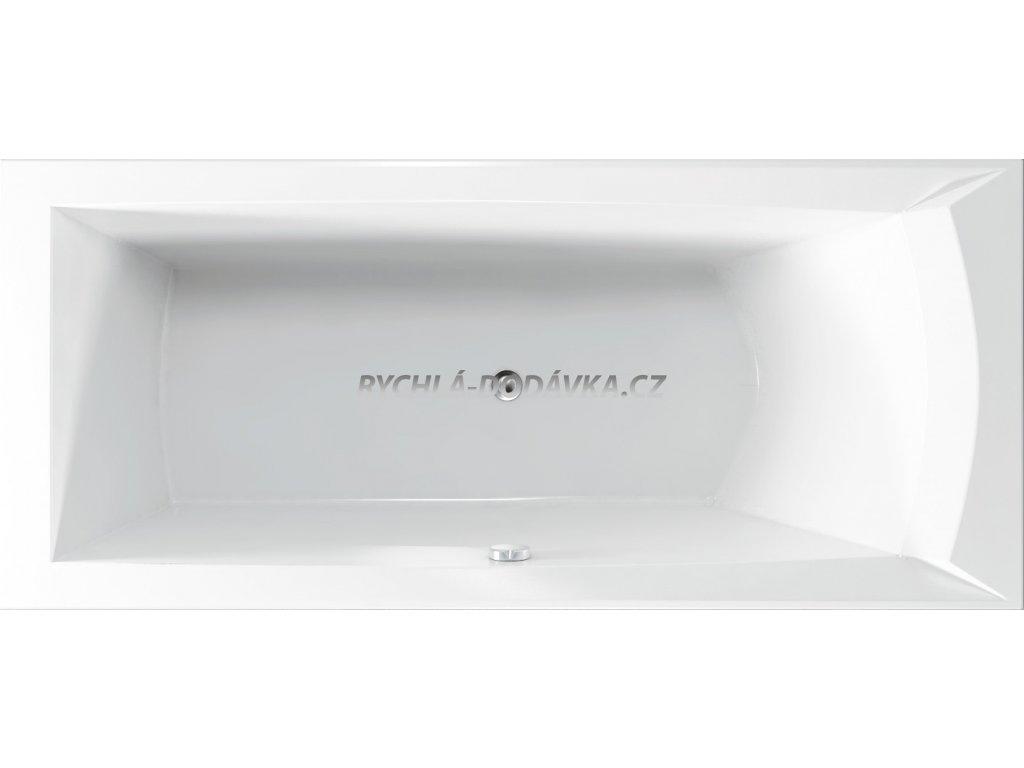 TEIKO Vana Porta 160 L obdélníková 160 x 76 cm, akrylátová, bílá, levá V112160L04T03001  Nohy zdarma