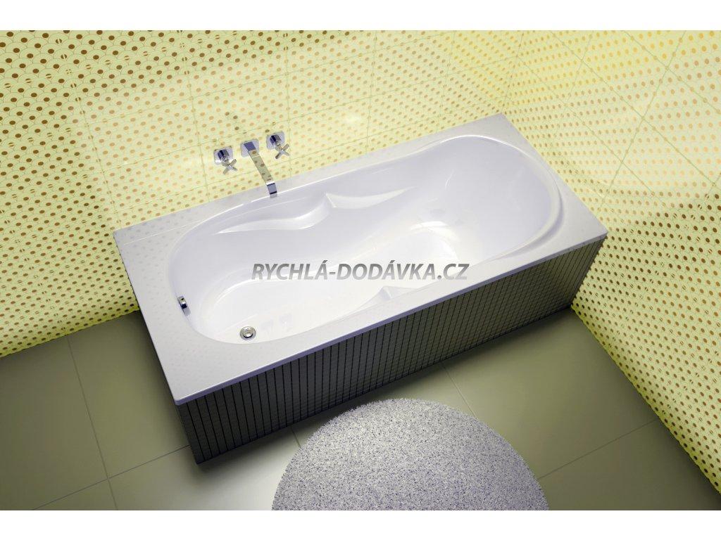 TEIKO Vana Canaria obdélníková 170 x 75 x 38 cm, akrylátová, bílá V112170N04T02001  Nohy zdarma
