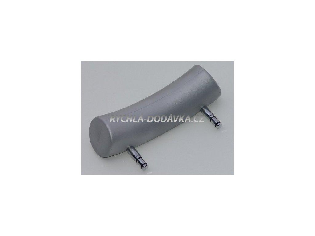 Teiko vana podhlavník zkosený stříbrný-VBPH010233