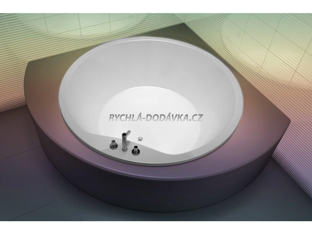 TEIKO Vana Space 160 kruhová 160 cm, akrylátová, bílá V115160N04T04001  Nohy zdarma